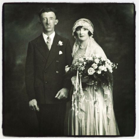 My grandparents - Francis Page and Nellie Brady - on their wedding day.
